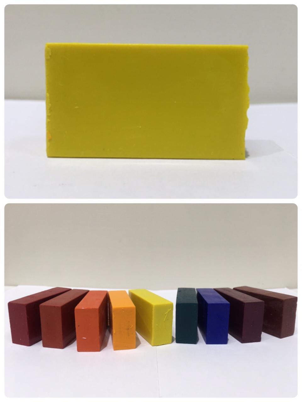 德國史都曼 Stockmar蠟磚-單色/塊 (05號-檸檬黃)